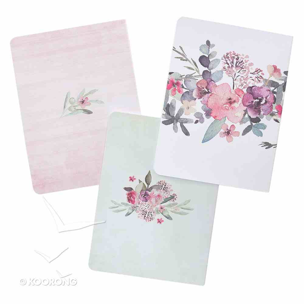 Notebook: Floral, Rejoice Collection (Set Of 3) Paperback