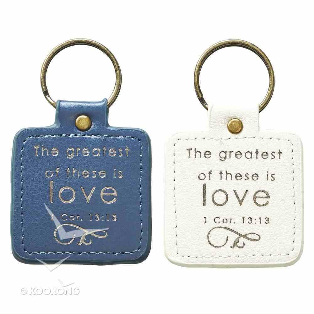 Keyring Set: Mr & Mrs Blue/White Jewellery