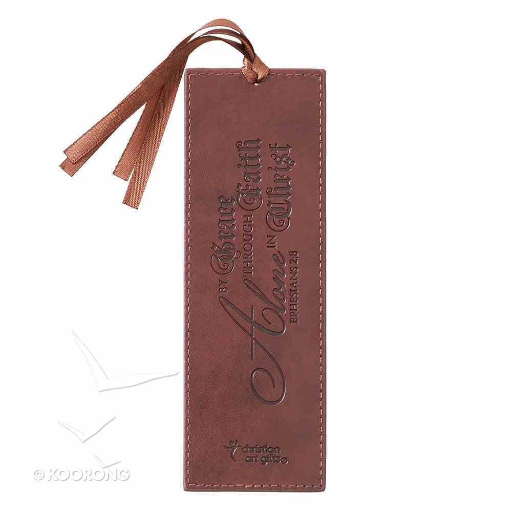 Bookmark Luxleather Tassel: In Christ Alone, Brown Stationery