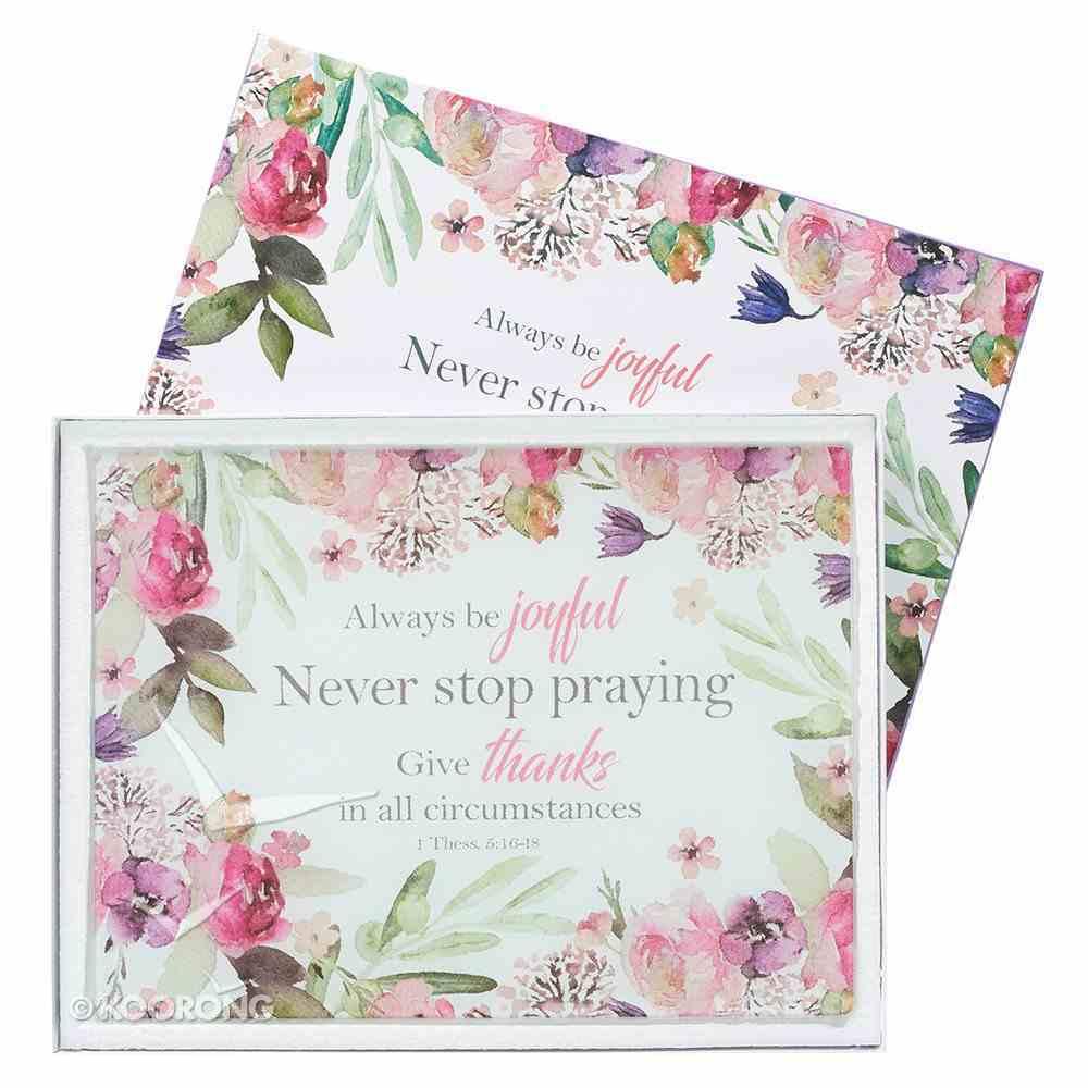 Large Glass Cutting Board: Always Be Joyful, Floral Homeware