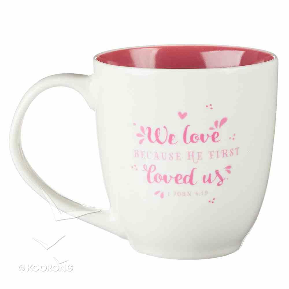 Ceramic Mug: You Are Loved, Pink/White (414ml) Homeware