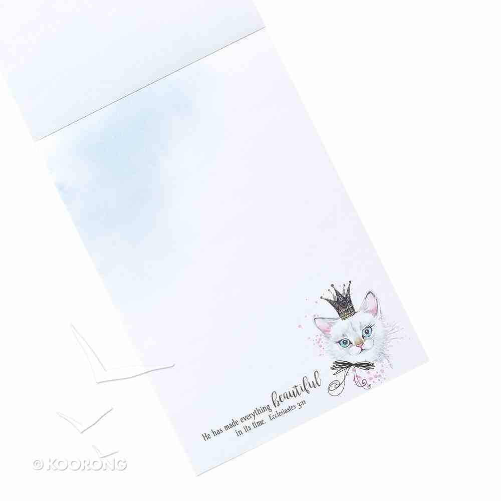 Notepad: He Has Made Everything Beautiful in Its Time (Kitten Wearing A Crown) Stationery