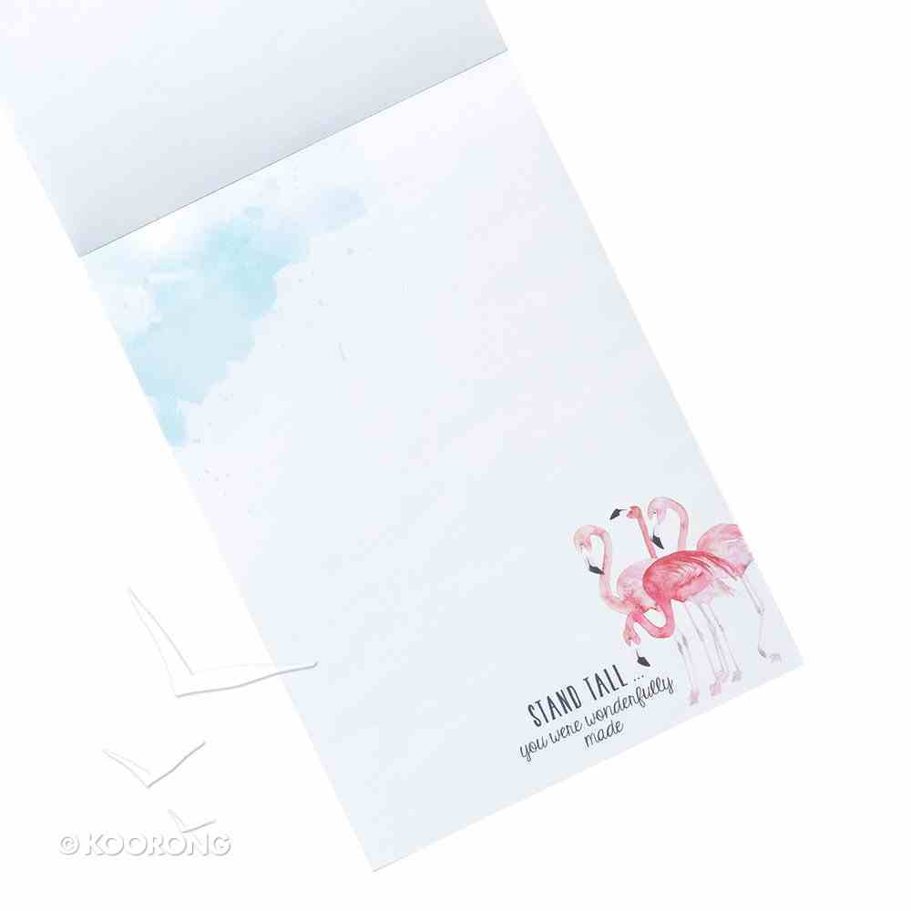 Notepade: Stand Tall, You Were Wonderfully Made (Flamingos) Stationery
