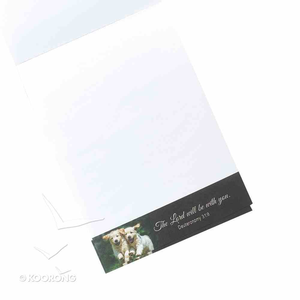 Notepad: The Lord Will Personally Go Ahead of You (Puppies Running) Stationery