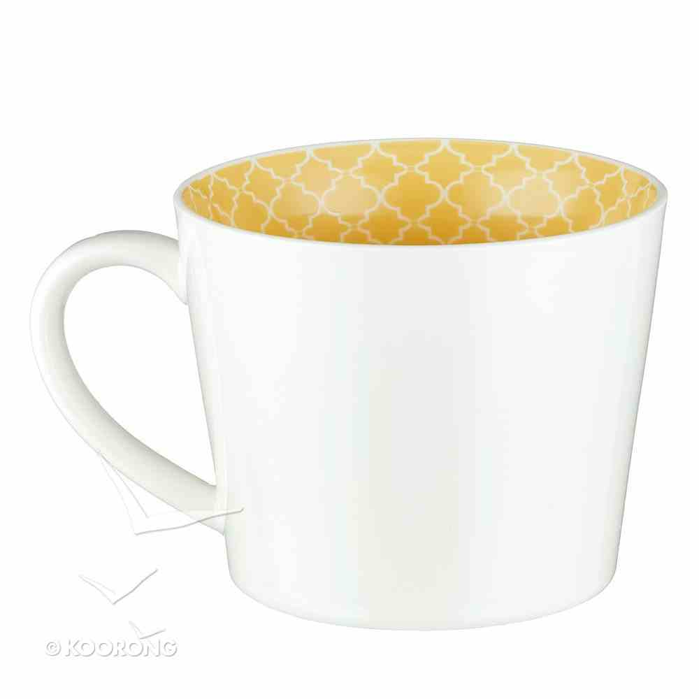 Ceramic Mug: Cup of Sunshine, Yellow/White Homeware