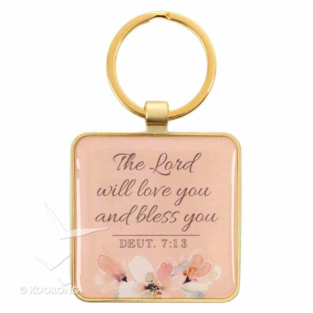 Metal Keyring: Abundantly Blessed, Floral Jewellery