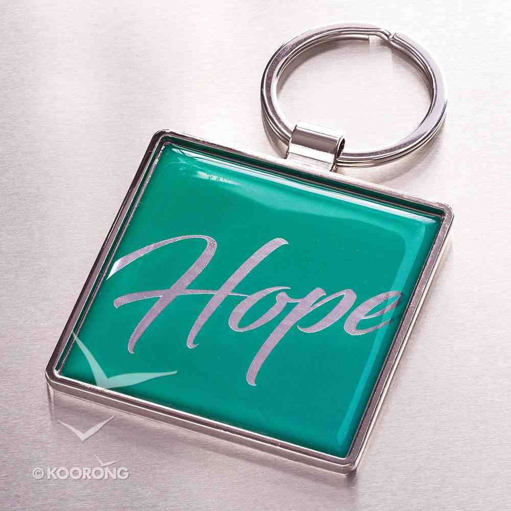 Metal Keyring: Hope, Blue - Blessed Are Those Who Hope is in the Lord Jewellery