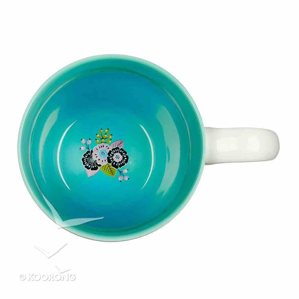 Ceramic Mug: World's Greatest Teacher White/Blue Inside (355ml) Homeware