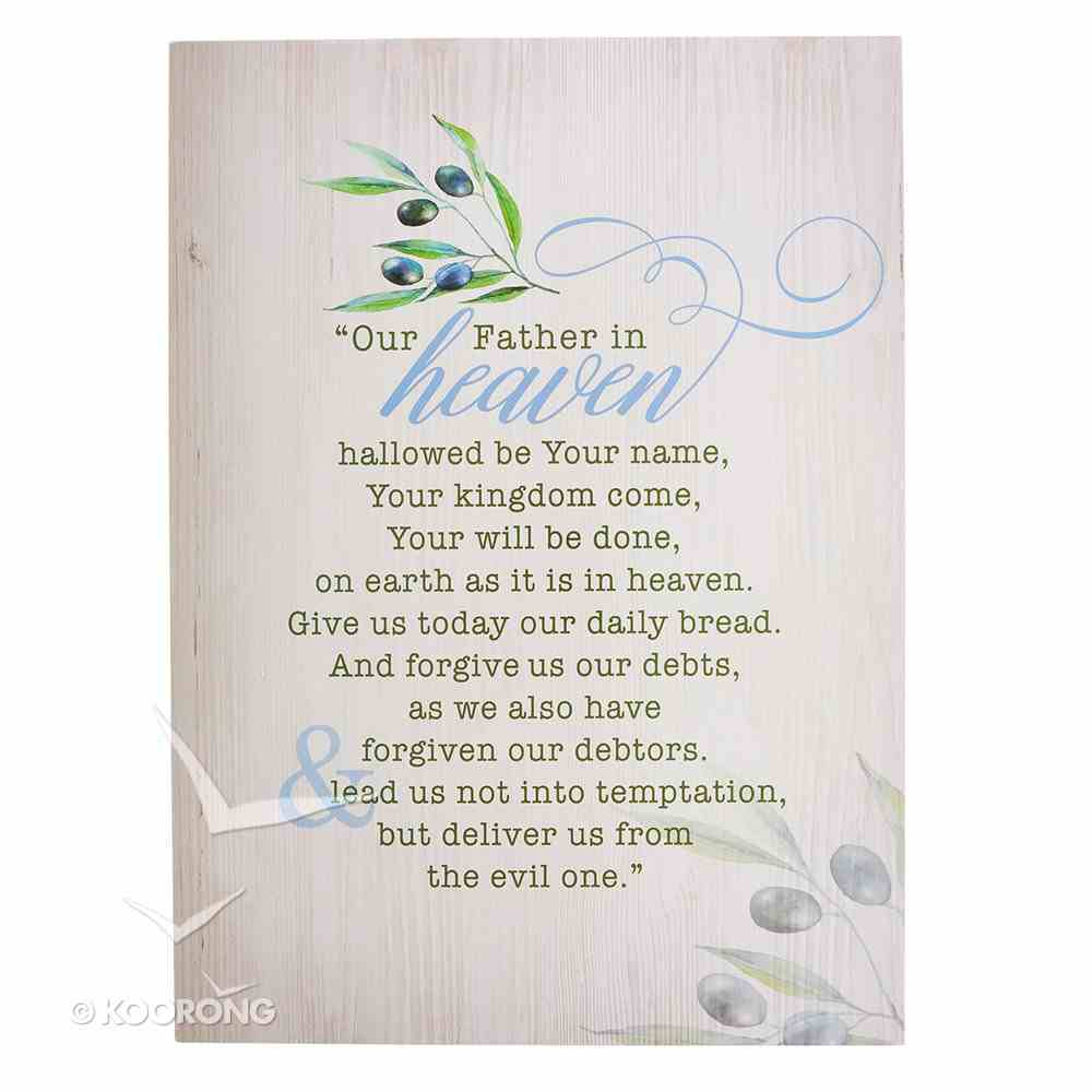 Wall Art: Our Father in Heaven... Olive Branch Plaque