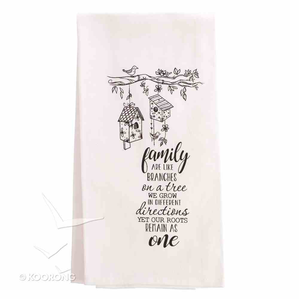 Tea Towel: Family Towel, White/Black (Noun Mugs And Towels Series) Homeware