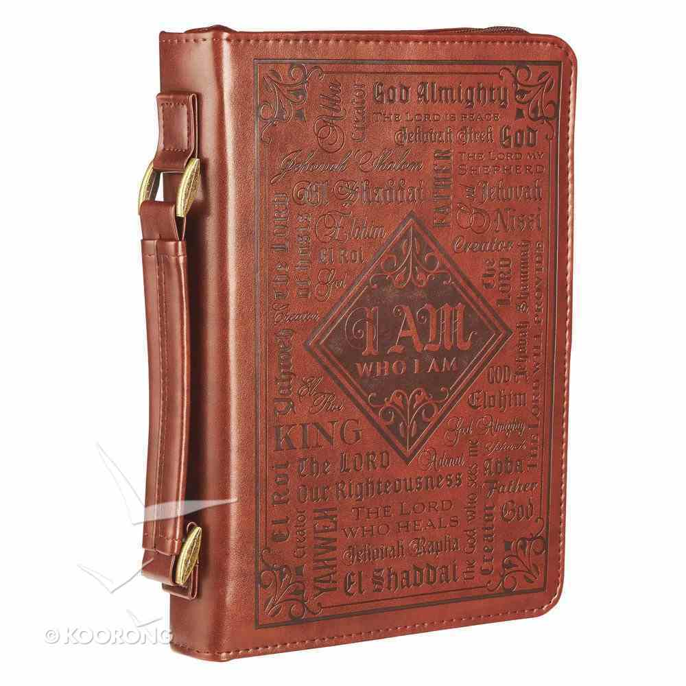 Bible Cover Classic Medium: Words of God, Dark Brown Luxleather Bible Cover