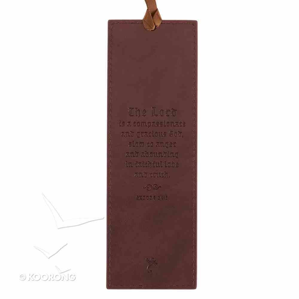 Bookmark: I Am Who I Am, Brown Luxleather Imitation Leather