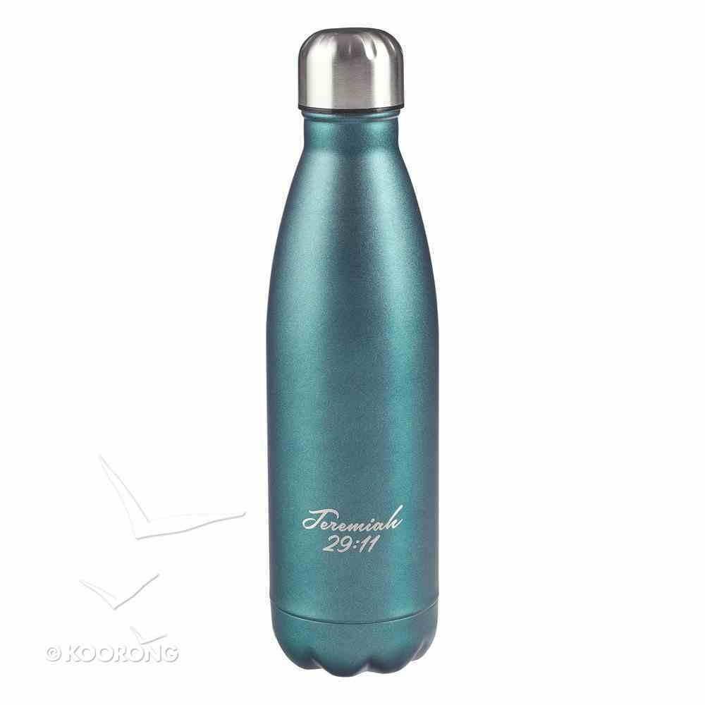 Water Bottle 500ml Stainless Steel: I Know the Plans....Silver/Blue (Vacuum Sealed) Homeware