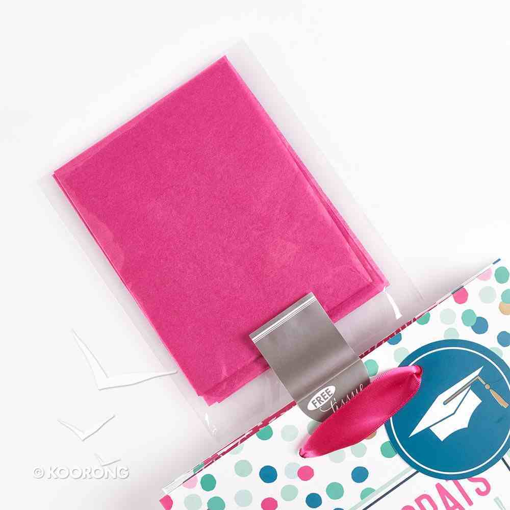 Gift Bag Medium: Congrats Grad! With God All Things Are Possible, Dotty Stationery