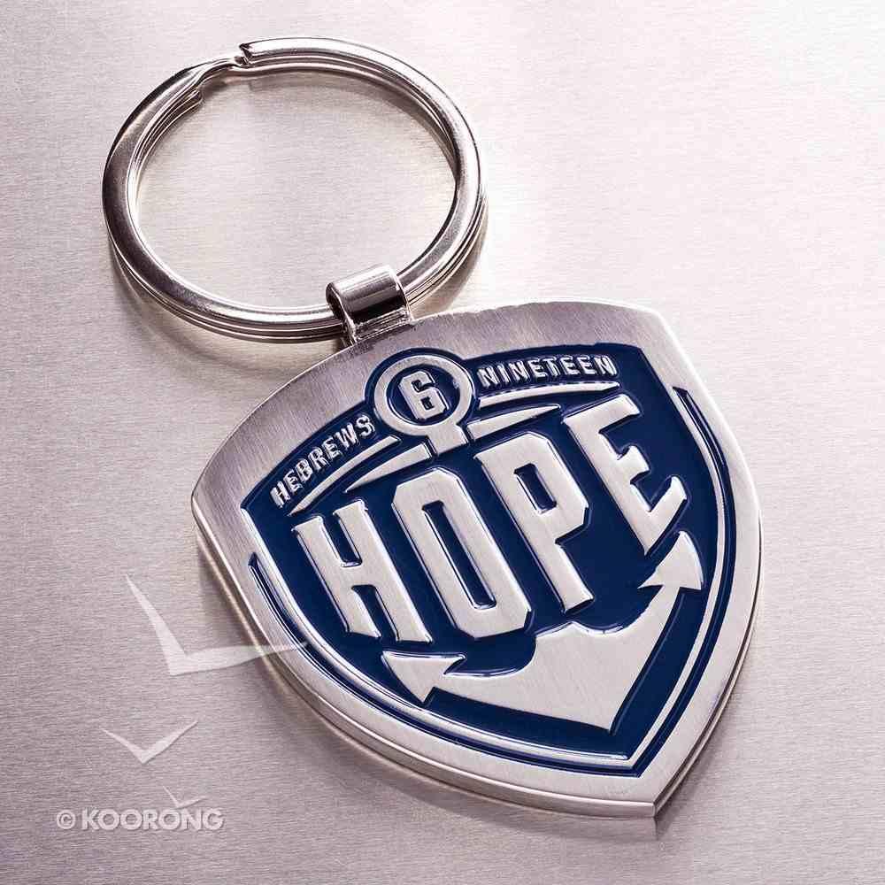 Metal Keyring: Hope, Blue - Hebrews 6:19 Jewellery