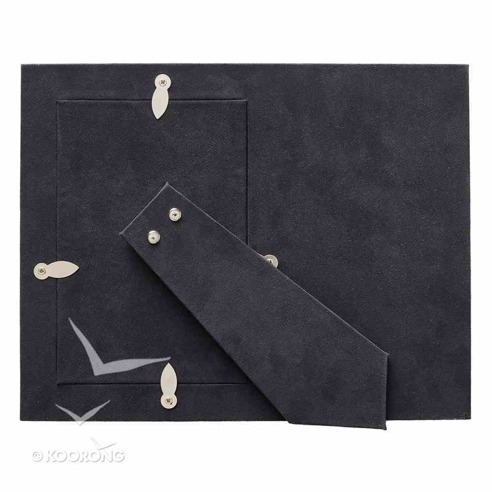 Photo Frame: For I Know the Plans I Have For You, Navy Luxleather Imitation Leather