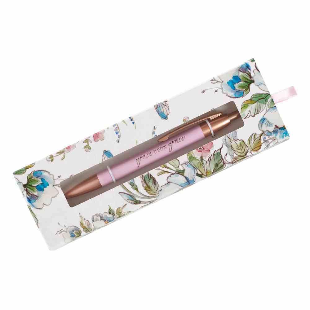 Ballpoint Pen: Grace Upon Grace, Pink Stationery