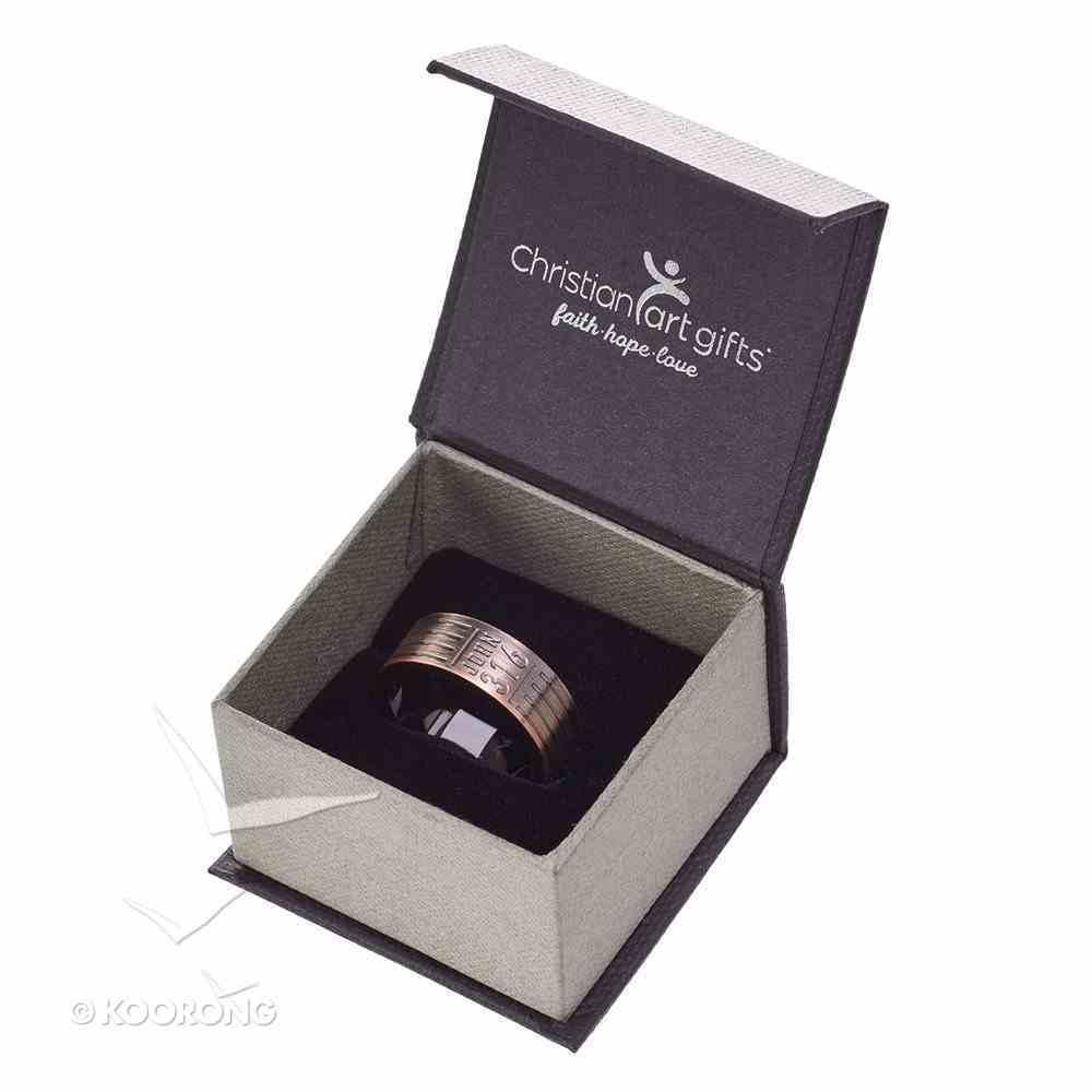 Mens Ring: Size 10, John 3:16, Copper Jewellery