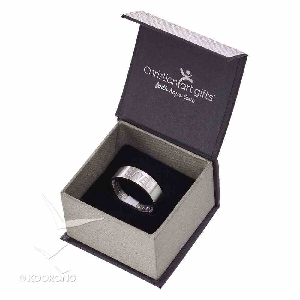 Mens Ring: Size 11, Saved By Grace, Silver Jewellery
