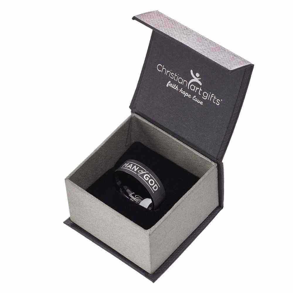 Mens Ring: Size 10, Man of God, Black Jewellery