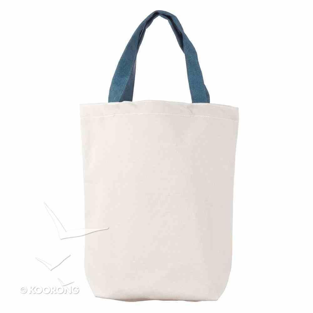 Canvas Floral Tote Bag: Grace Upon Grace, Brown Handles Soft Goods