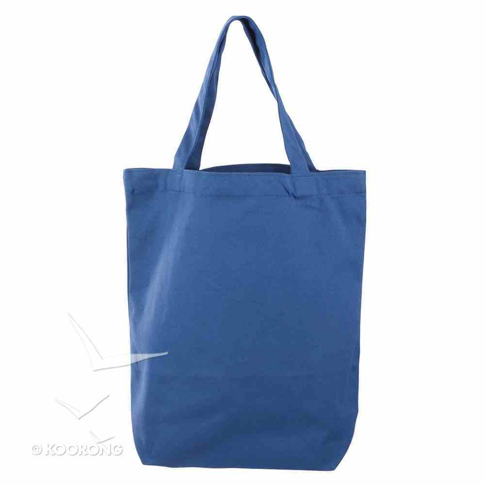 Canvas Floral Tote Bag: Strength & Dignity, Navy Blue/Rose Gold Etching Soft Goods