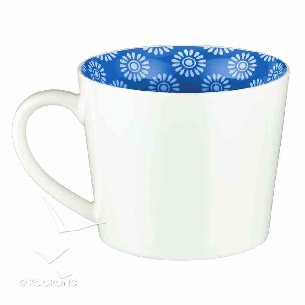 Ceramic Mug: Cup of Joy Psalm 4:7, White/Navy Homeware