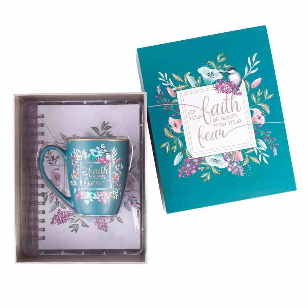 Boxed Gift Set: Faith Journal and Ceramic Mug Blue (355 ML) (Faith Fear Collection) Pack