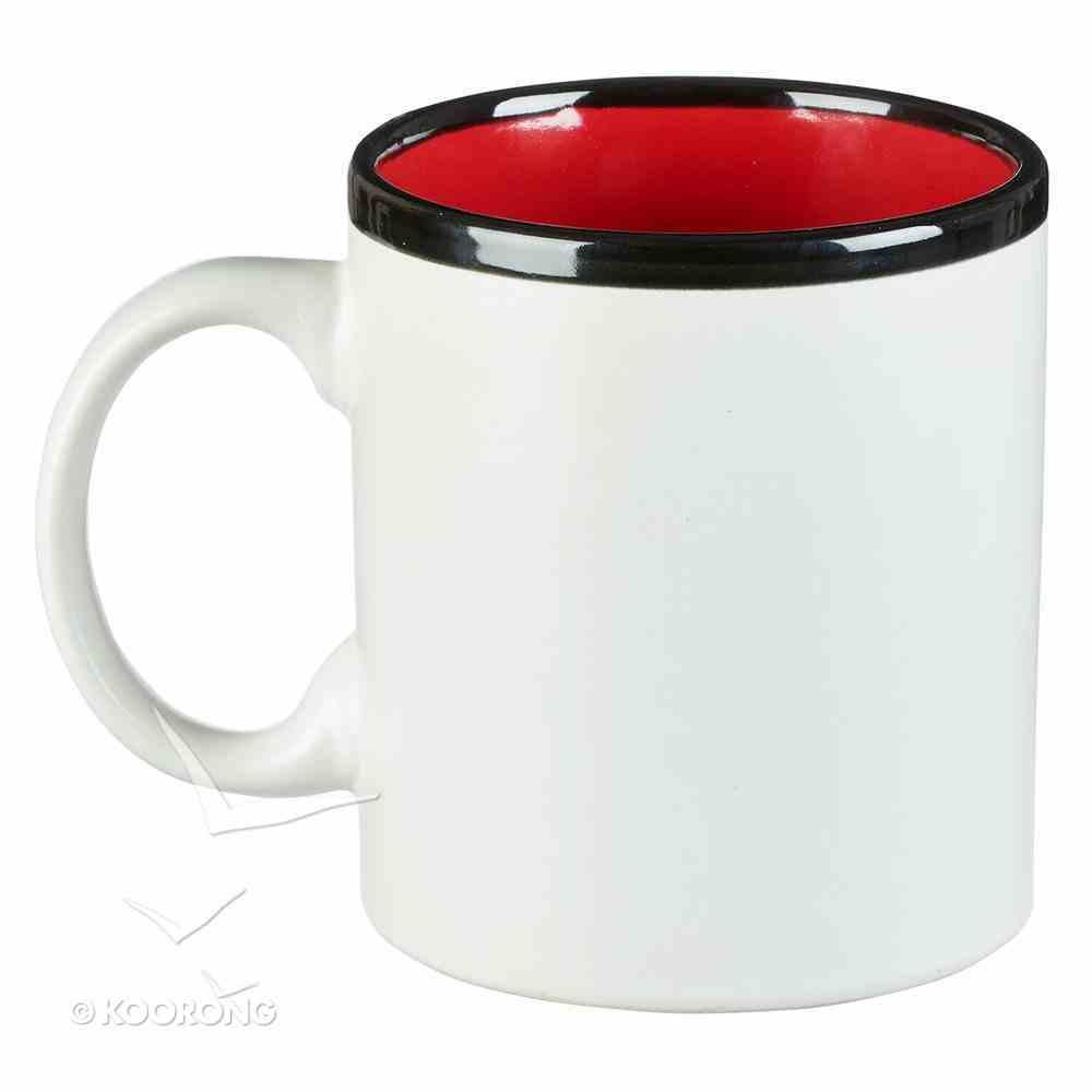 Ceramic Mug Teaching is a Work of Heart, White/Red/Black (384ml) (Teaching Is A Work Of Heart Series) Homeware