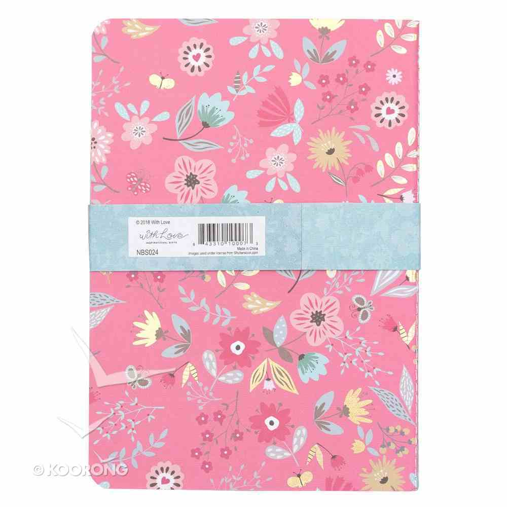 Notebook : Today I Will Choose Joy, Floral Design White/Pink/Blue (Set of 3) (Choose Joy Collection) Paperback