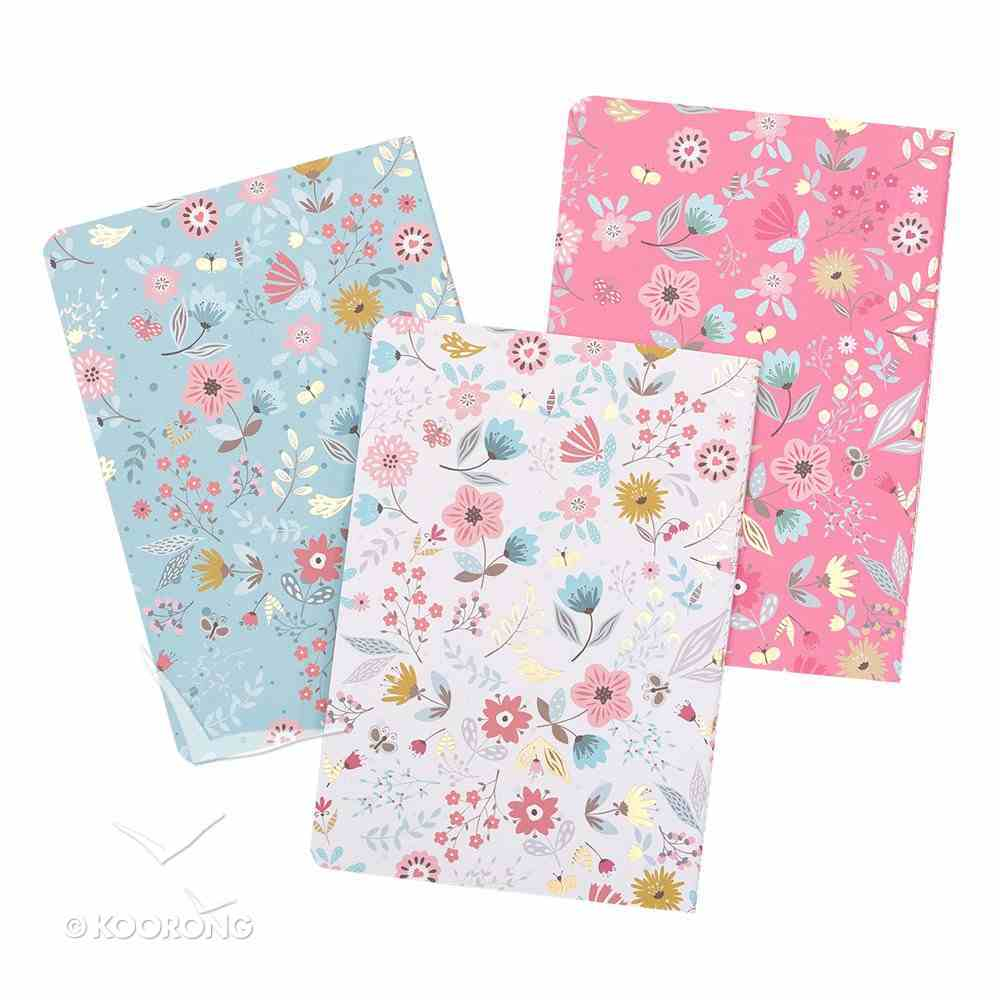 Notebook Set of 3: Today I Will Choose Joy, Floral Design (Choose Joy Collection) Pack