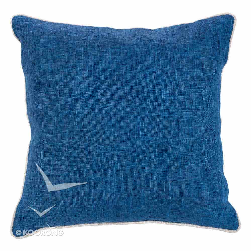 Square Pillow: Blessed Beyond Measure, Blue/White (Blessed Beyond Measure Collection Series) Soft Goods