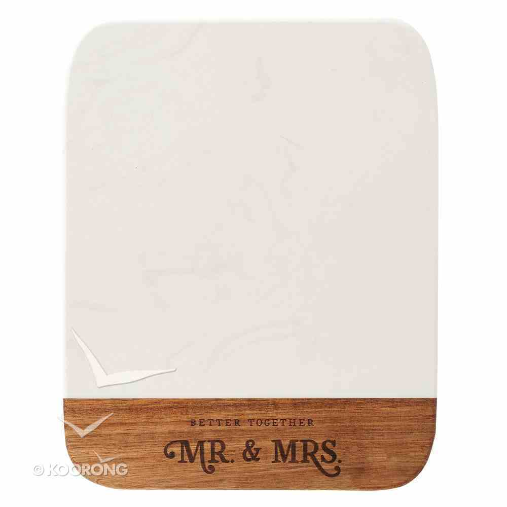 Cutting Board: Better Together, Marble & Acacia Wood With Heat Engraved Front (Better Together Collection) Homeware