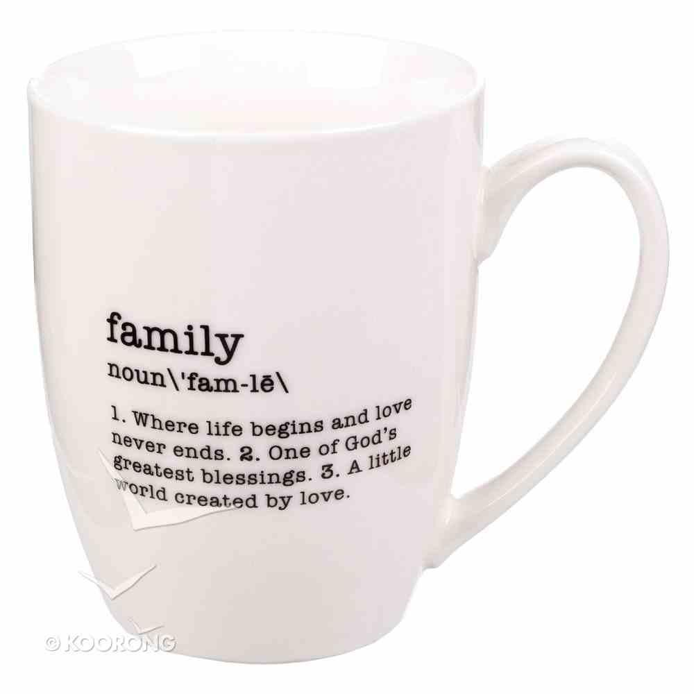 Ceramic Mug: Family Noun, White/Black (Noun Mugs And Towels Series) Homeware