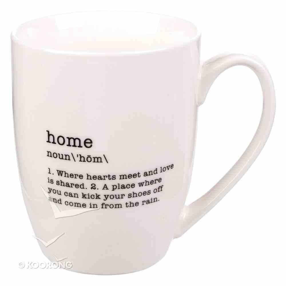 Ceramic Mug: Home Noun, White/Black (Noun Mugs And Towels Series) Homeware