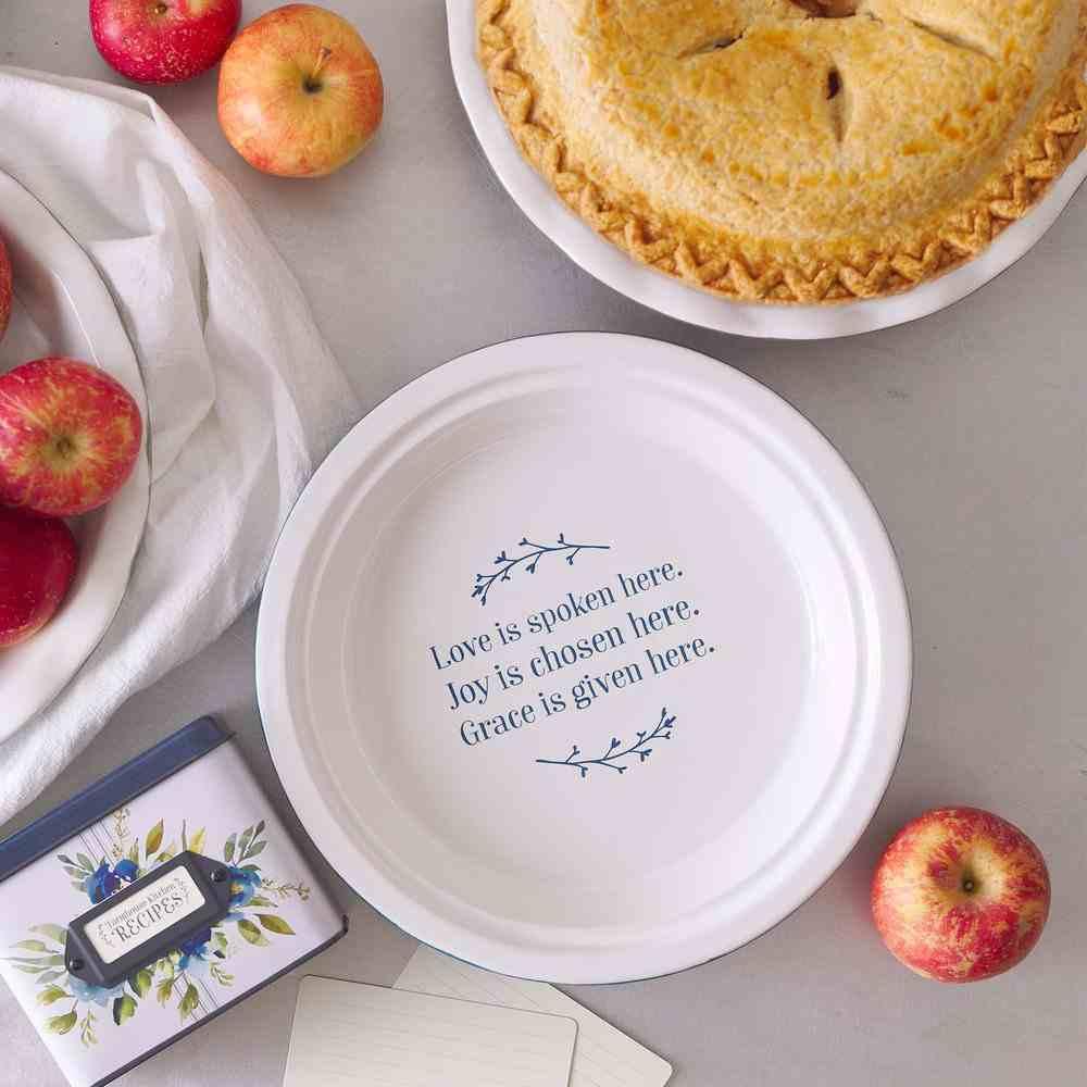 Ceramic Pie Plate: Love Joy Grace, Glazed (Love Joy Grace Collection) Homeware