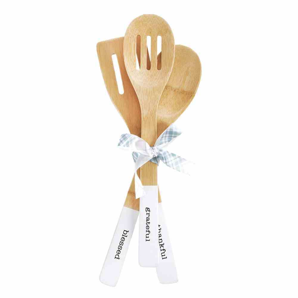 Bamboo Spoon Set of 3: Gather Here (Gather Here Collection) Homeware