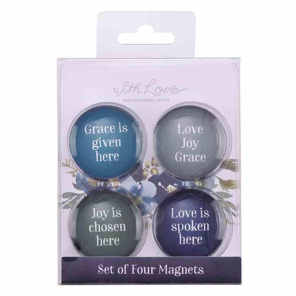 Magnetic Set of 4 Magnets: Love Joy Grace (Love Joy Grace Collection) Novelty