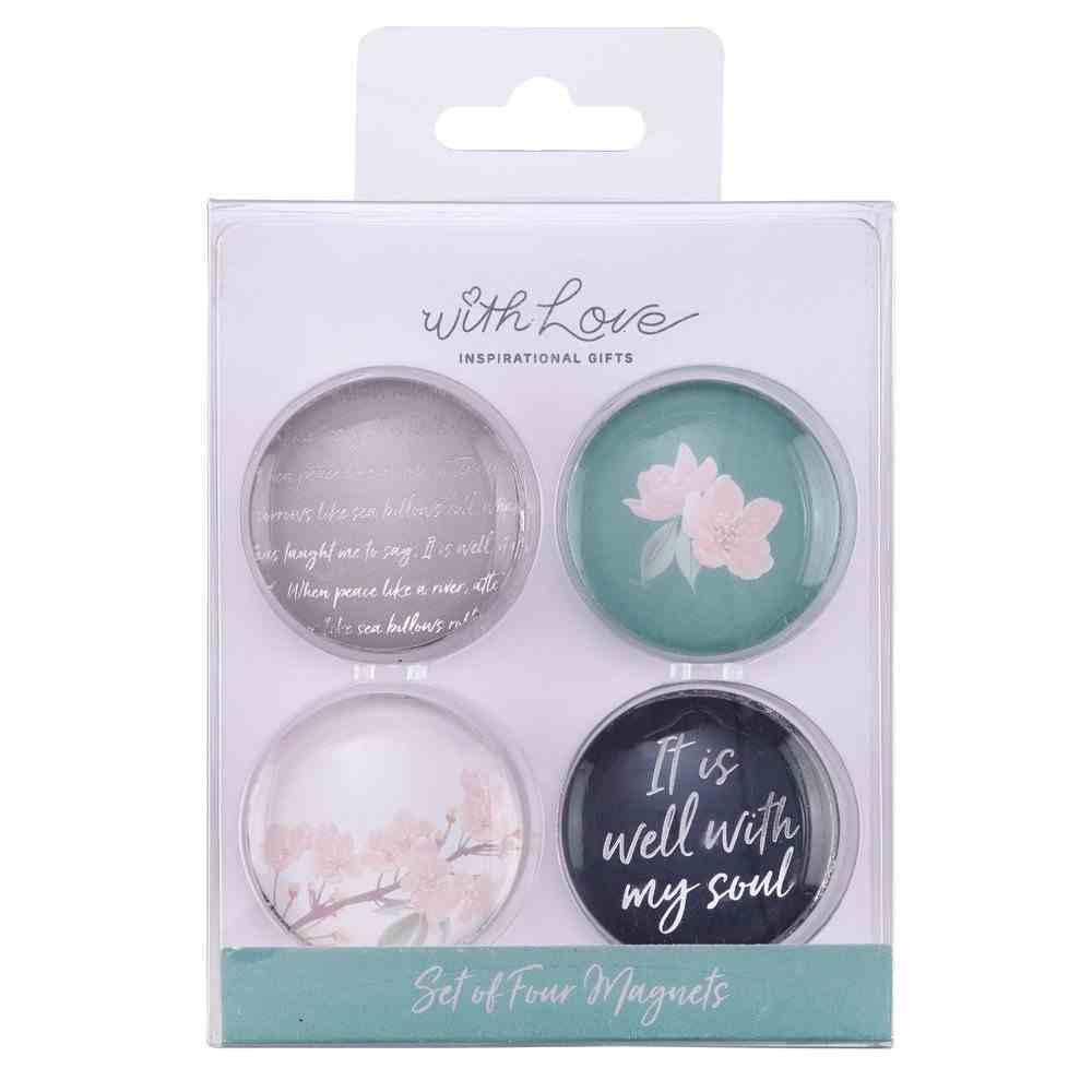 Glass Magnet Set of 4: It is Well With My Soul (It Is Well Collection) Novelty