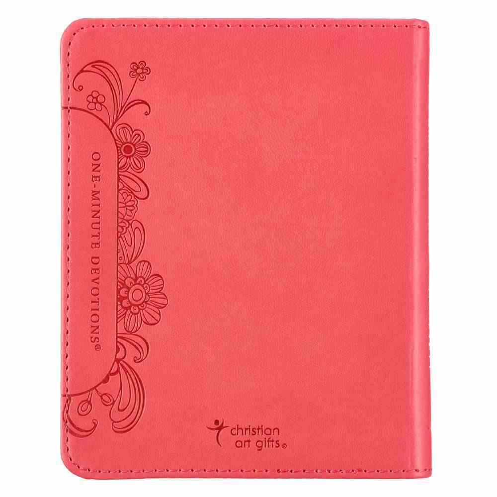 One Minute Devotions: For Women Pink Luxleather Imitation Leather
