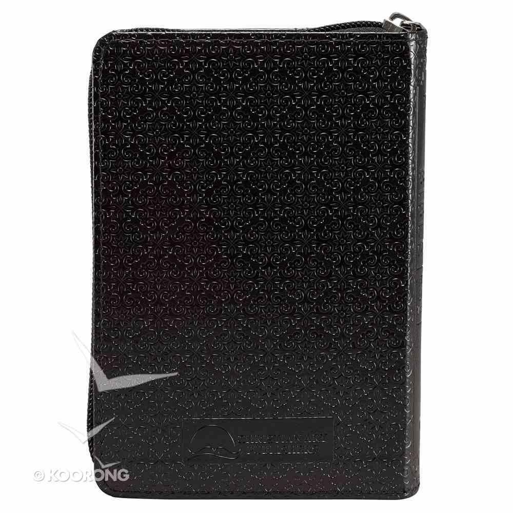 KJV Holy Bible Pocket Zippered Black Red Letter Edition Imitation Leather