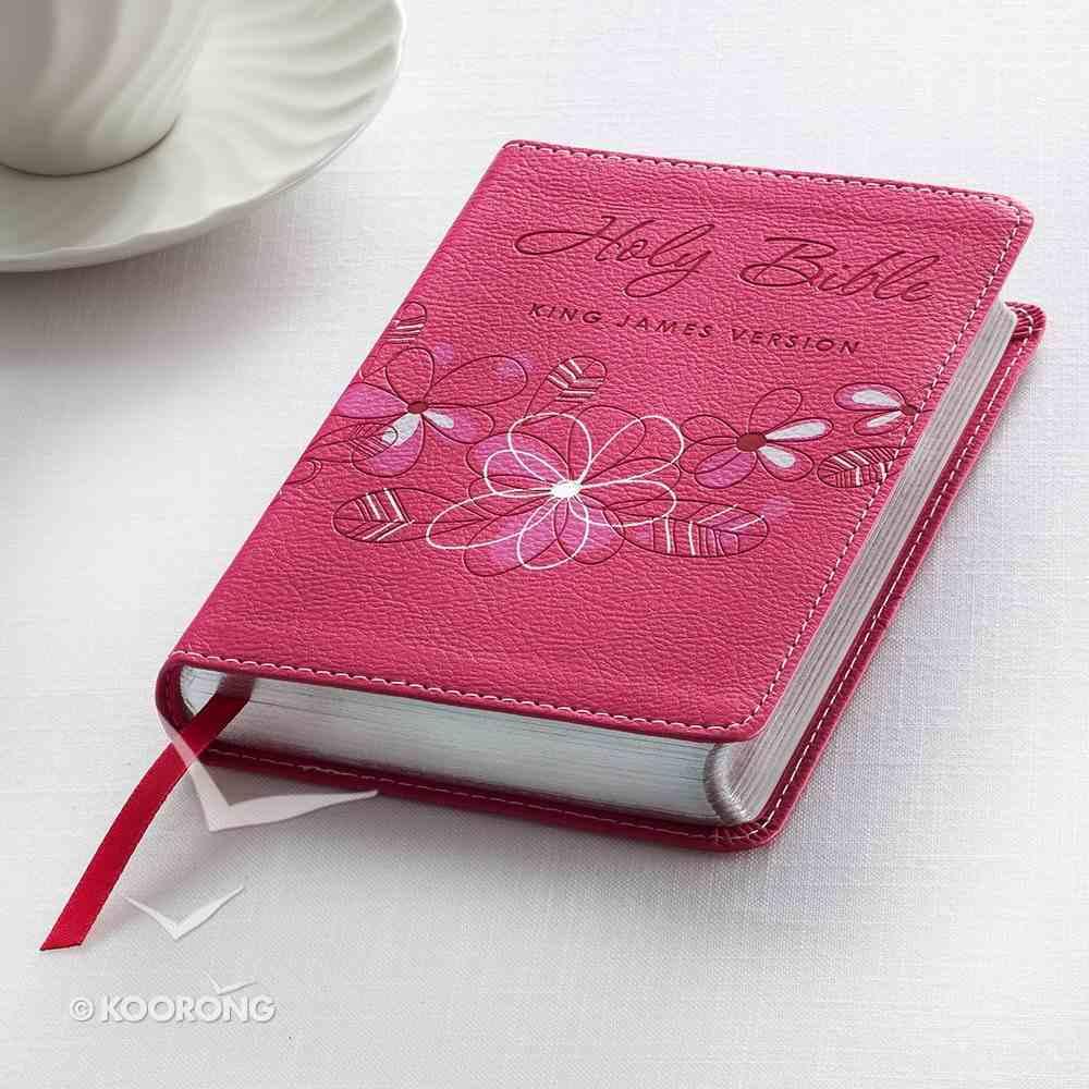 KJV Trendy Pocket Edition Pink Red Letter Edition Imitation Leather