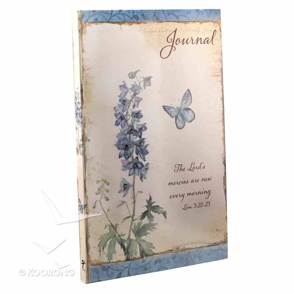 Journal: Flexcover Lord's Mercies Are New Every Morning Blue Flowers Lamentations 3:22-23 Paperback