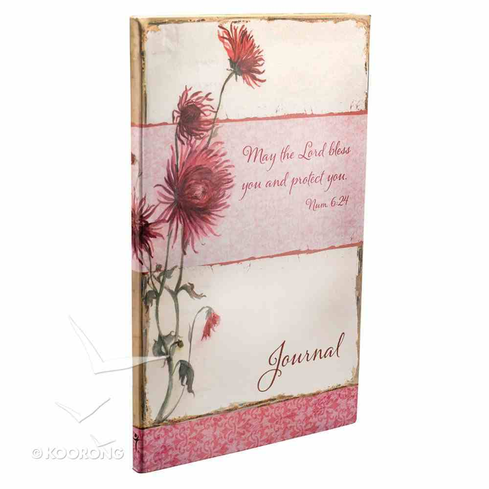Flexcover Journal: May the Lord Bless You and Protect You Pink Flowers Numbers 6:24 Paperback