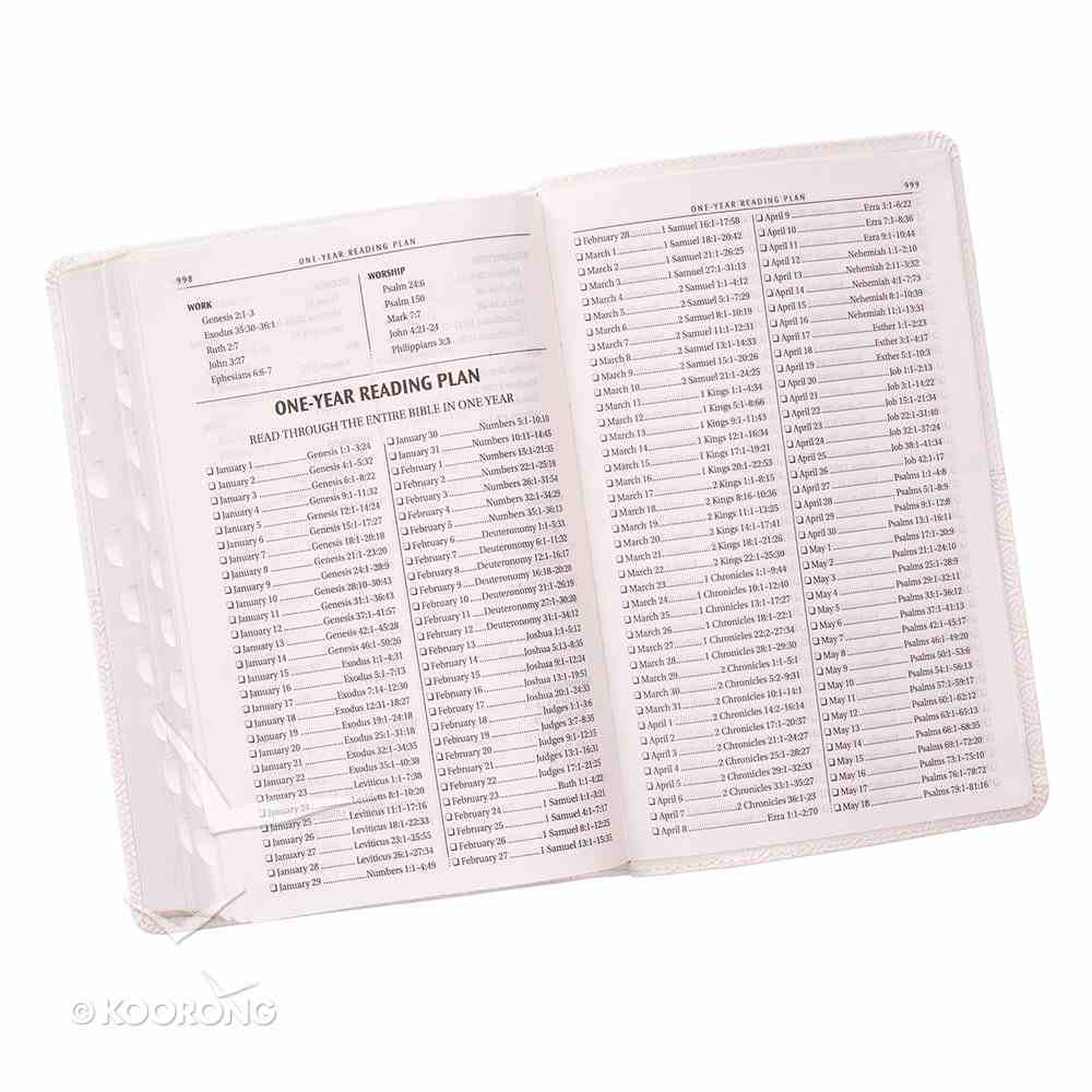 KJV Gift and Award Bible White Red Letter Edition Imitation Leather