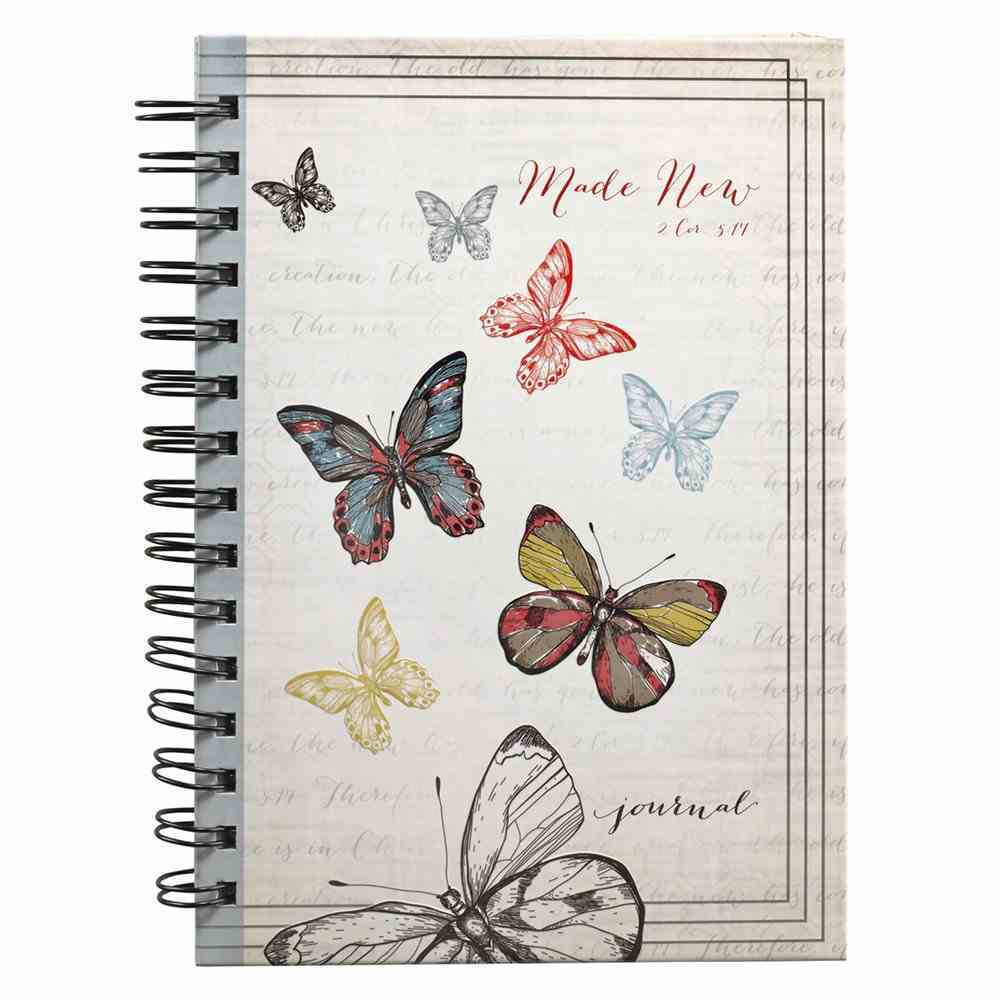 Journal: Made New Butterflies (2 Cor 5:17) Spiral