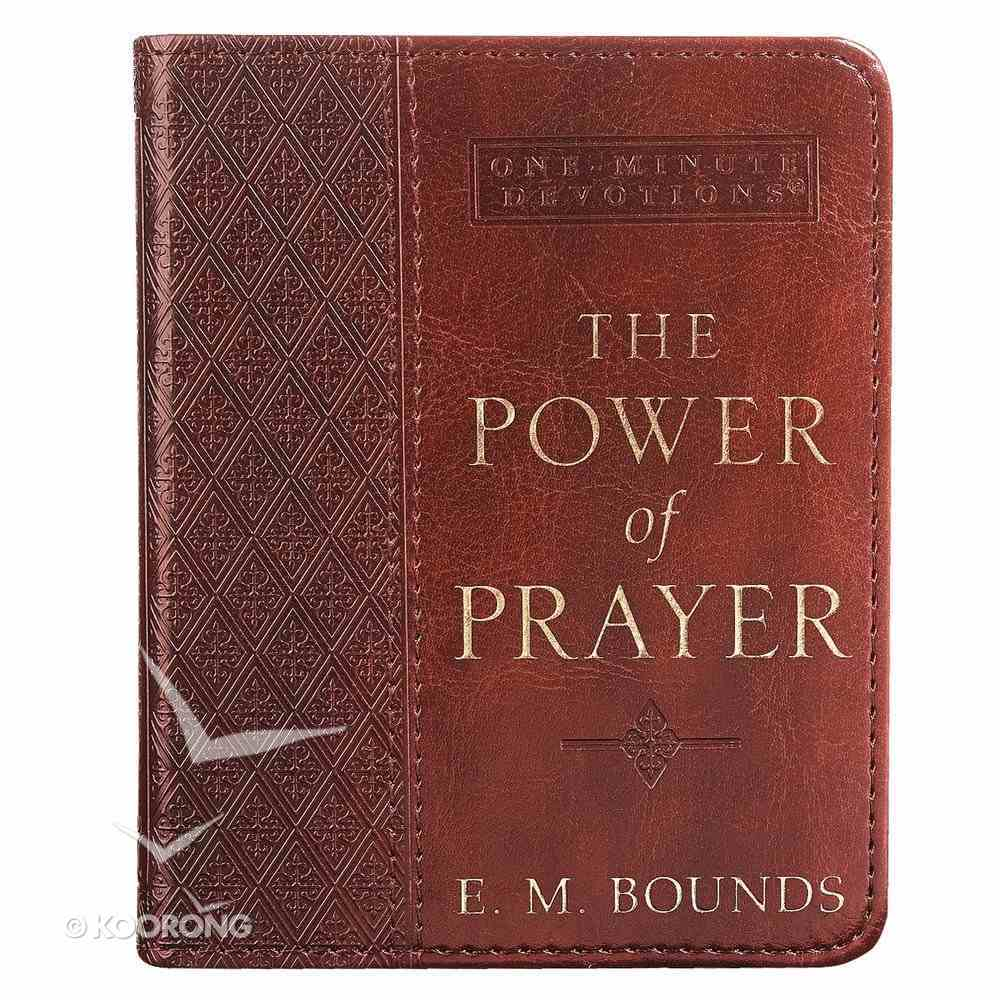 One Minute Devotions: Power of Prayer Brown Luxleather Imitation Leather