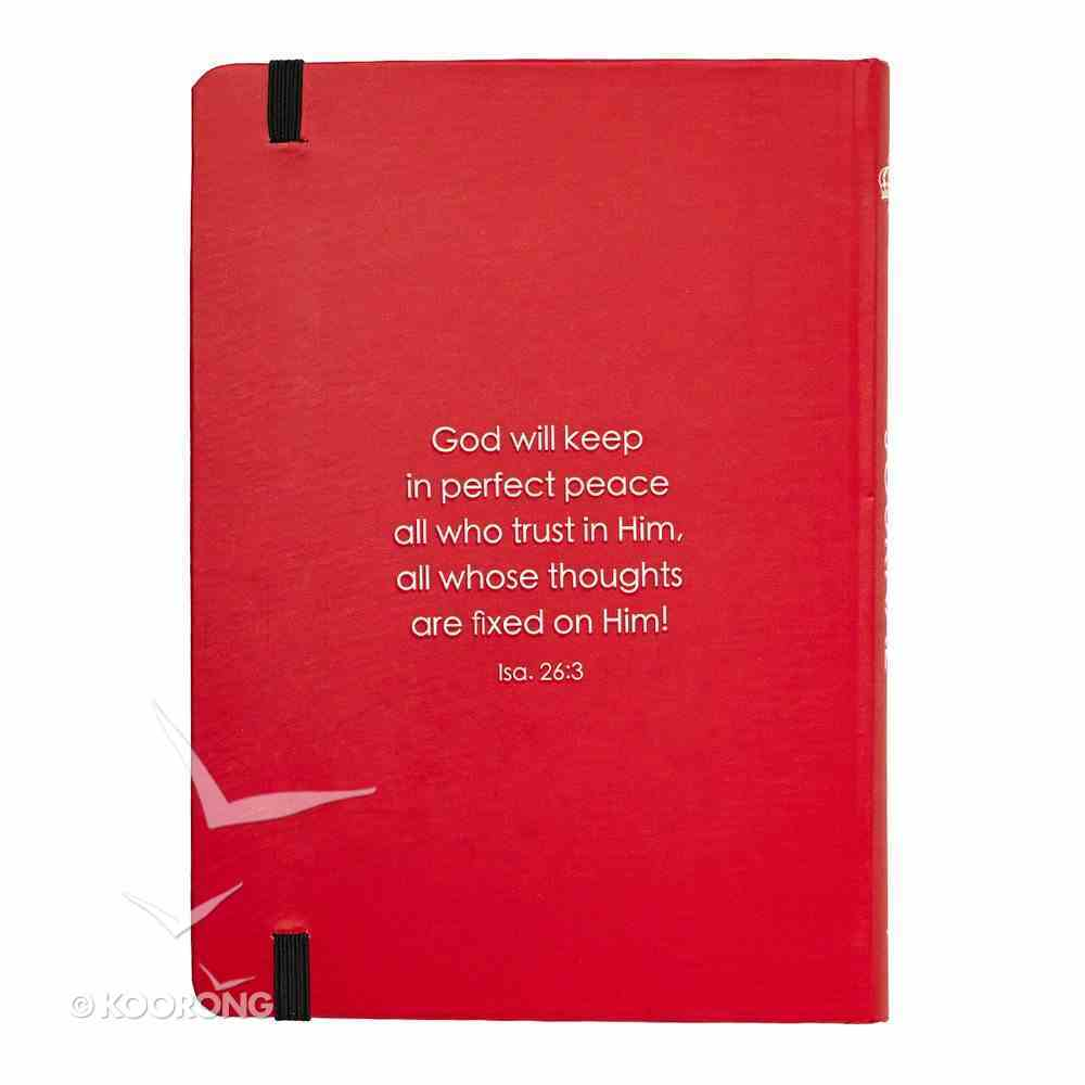 Journal: Keep Calm and Trust God Red Elastic Band Closure Medium Hardback