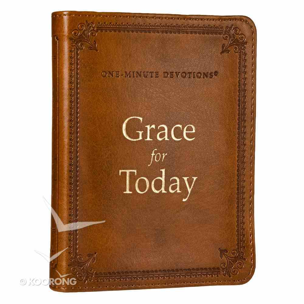 One Minute Devotions: Grace For Today Brown Luxleather Imitation Leather