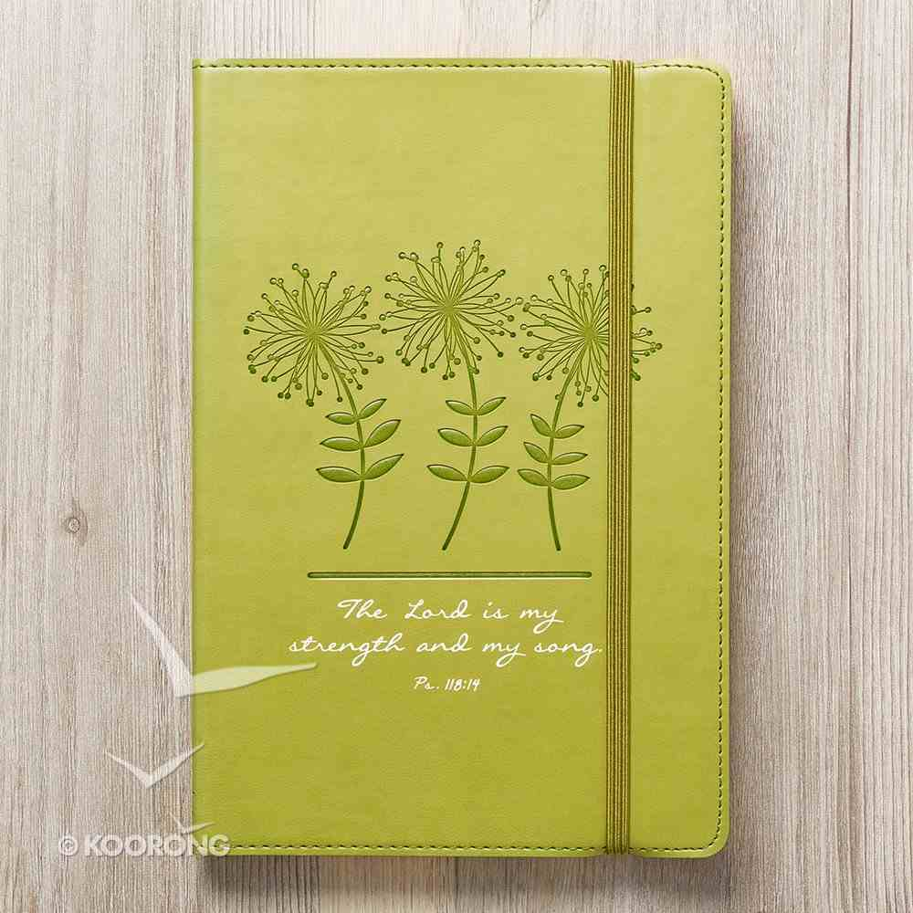 Journal: Strength & Song, Lime Green Flexcover With Elastic Closure Imitation Leather
